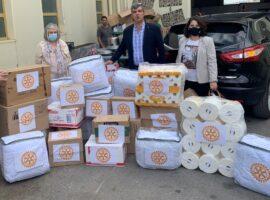 Βοήθεια στους σεισμόπληκτους του Αρκαλοχωρίου/Ροταριανοί Ομίλοι Ηράκλειο «Νίκος Καζαντζάκης», Αθήναι-Νότος, Αγία Παρασκευή, Κορωπί